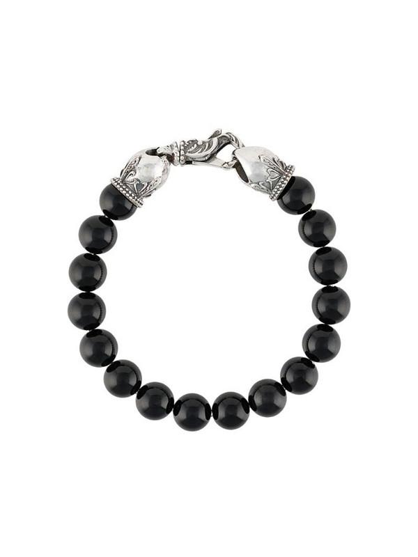Emanuele Bicocchi stone-embellished beaded bracelet in black
