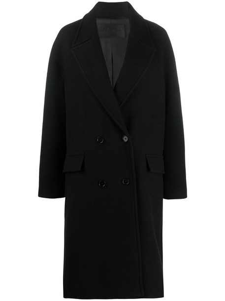 Christian Wijnants double breasted oversize coat in black