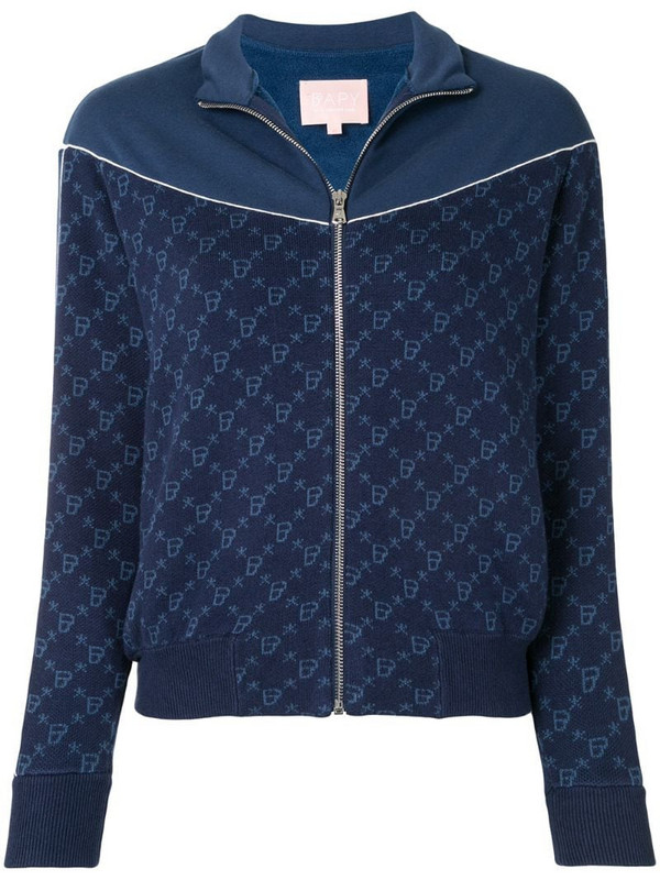 BAPY BY *A BATHING APE® intarsia-knit zipped jacket in blue
