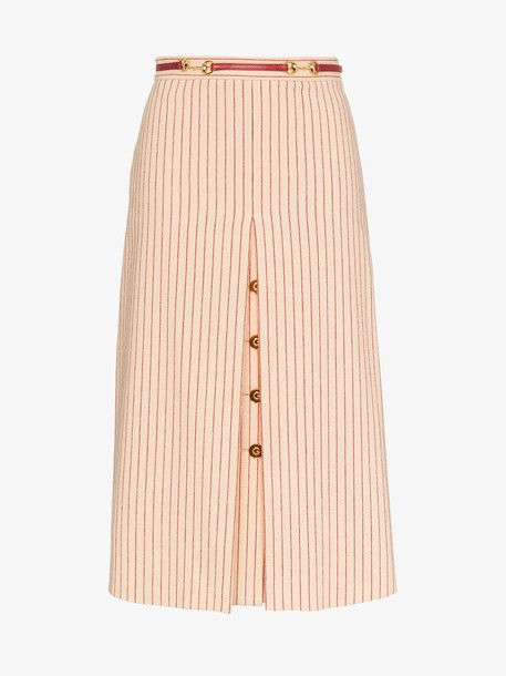 Gucci Wool skirt with GG buttons in neutrals