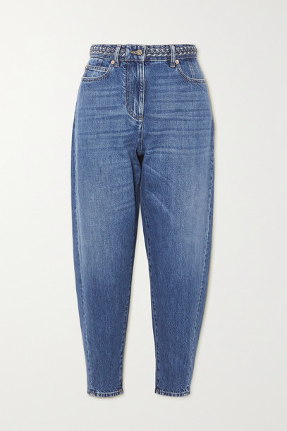 VALENTINO - High-rise Tapered Jeans - Blue