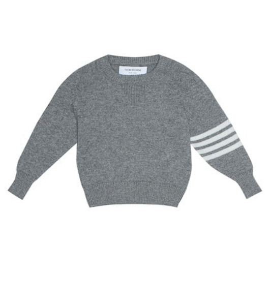Thom Browne Kids Cashmere sweater in grey