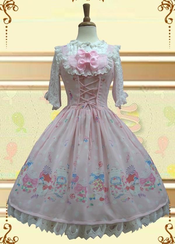 dress lolita lolita dress lolita candy sweet pink dress