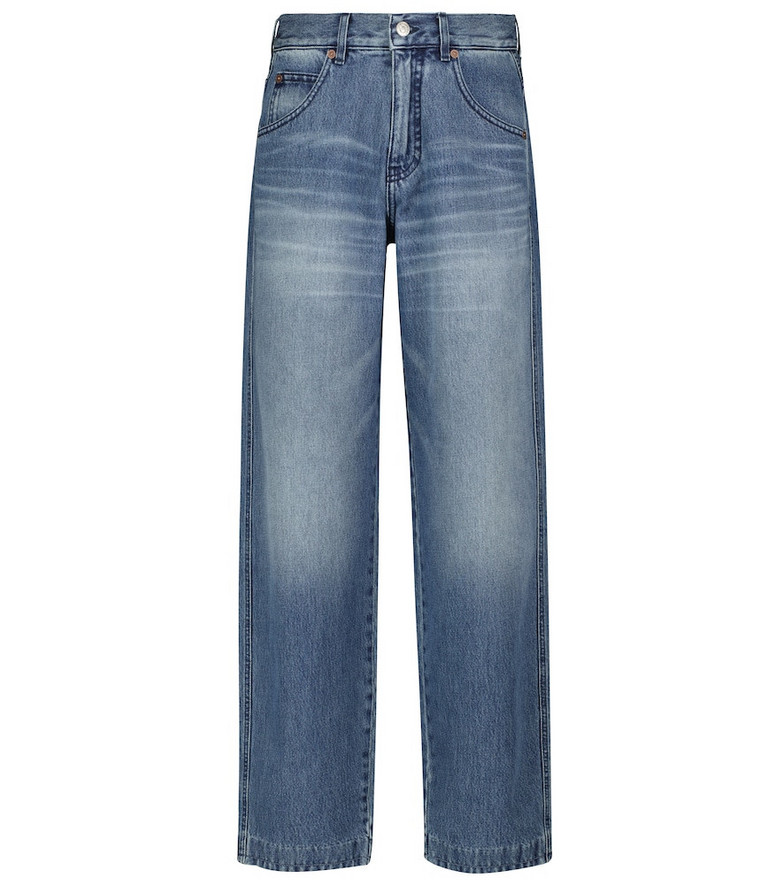 Victoria Beckham Diana high-waisted jeans in blue