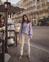 sweater,turtleneck sweater,oversized sweater,snake print,ankle boots,white jeans,skinny jeans,handbag