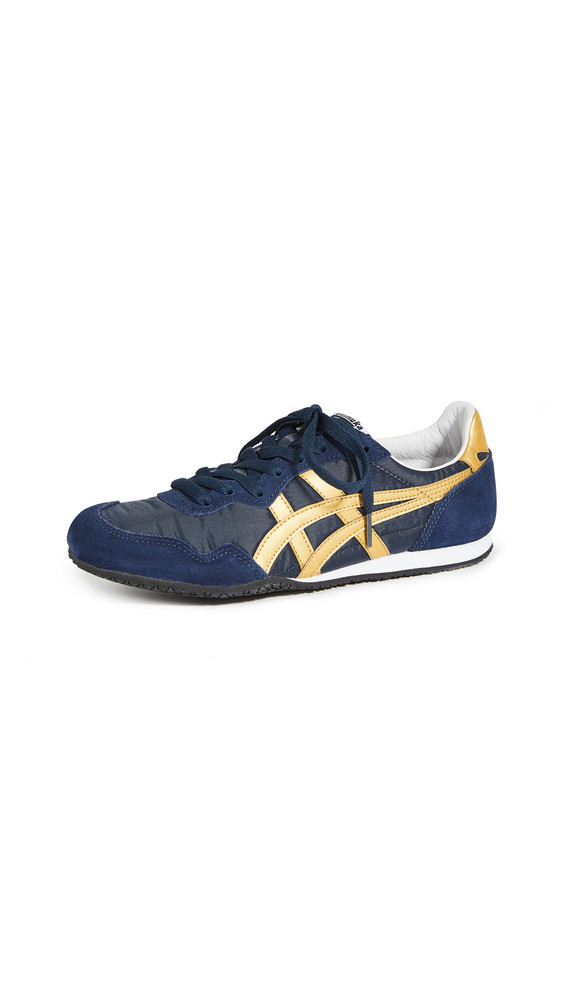 Onitsuka Tiger Serrano Sneakers in midnight / gold