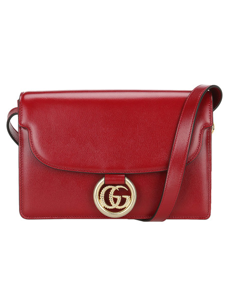 Gucci Small Gg Ring Shoulder Bag in red