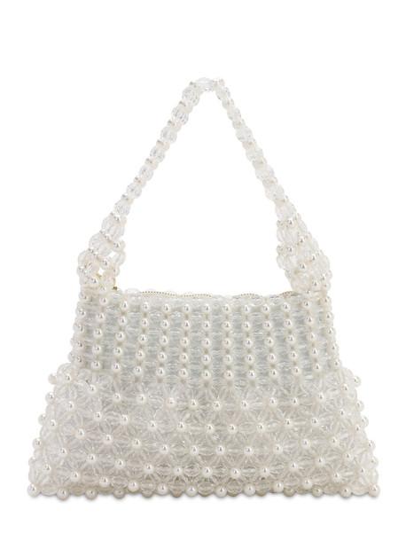 SHRIMPS Quinn Beaded Top Handle Bag in cream