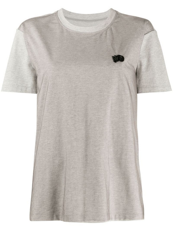 Viktor & Rolf No embroidered boxy fit T-shirt in grey
