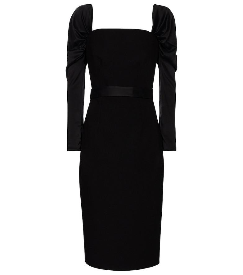Safiyaa Stretch-crêpe midi dress in black