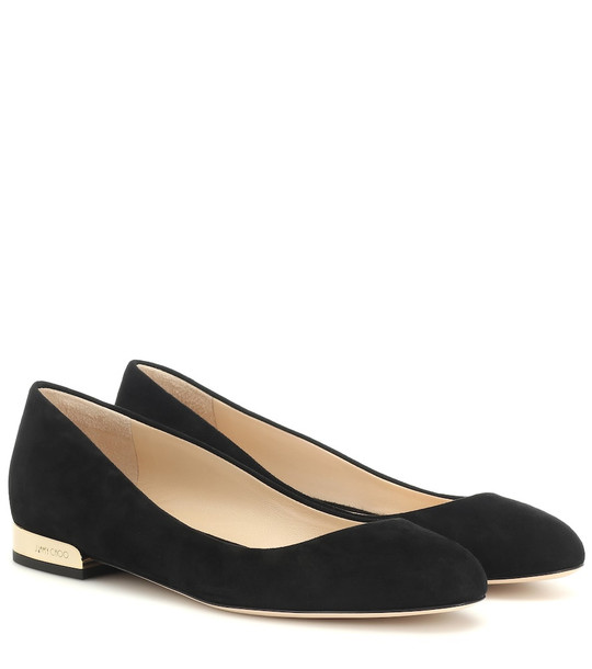Jimmy Choo Jessie suede ballet slippers in black