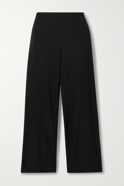 The Row - Lenny Cady Wide-leg Pants - Black