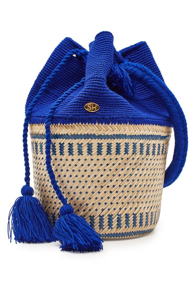 Soraya Hennessy The Antonella Basket Bag  in blue