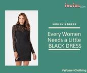 dress,women dress,black dress,women clothing,womens wear,online fashion store,online shopping