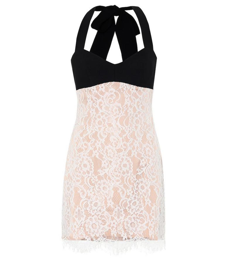 RASARIO Lace minidress in white