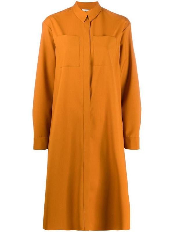 Maison Rabih Kayrouz chest pocket shirt dress in yellow