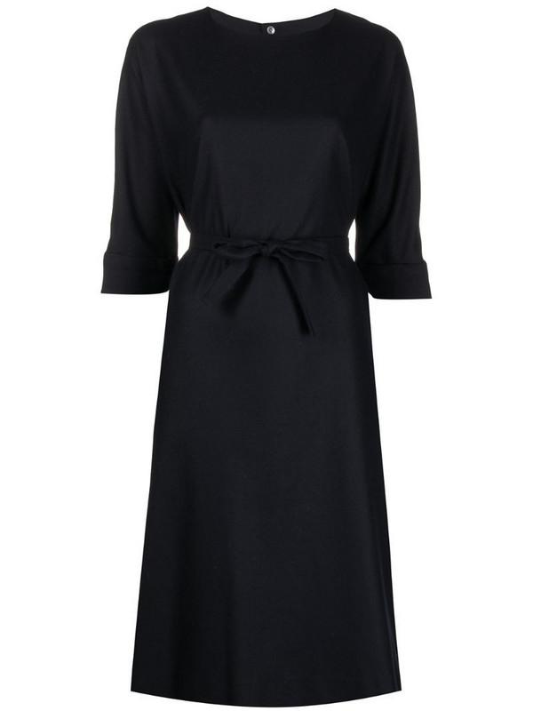 Stephan Schneider cashmere-wool-blend tie-waist dress in blue