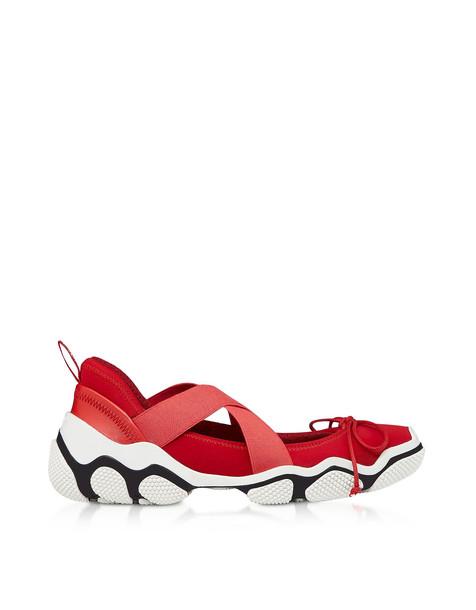 Red Valentino Amarillo Nylon Criss Cross Sneakers in yellow