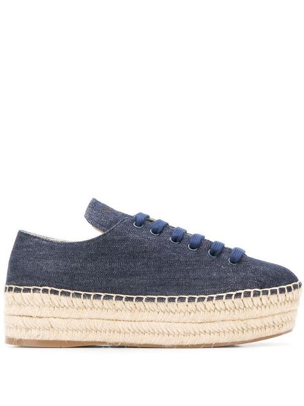 Prada denim espadrille sneakers in blue