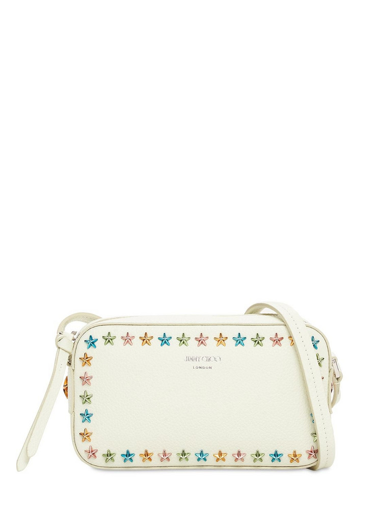JIMMY CHOO Soft Grainy Leather Camera Bag W/stars in multi