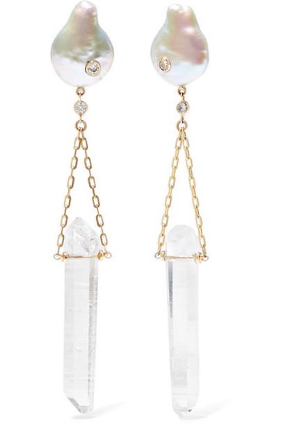 Harris Zhu - 14-karat Gold Multi-stone Earrings