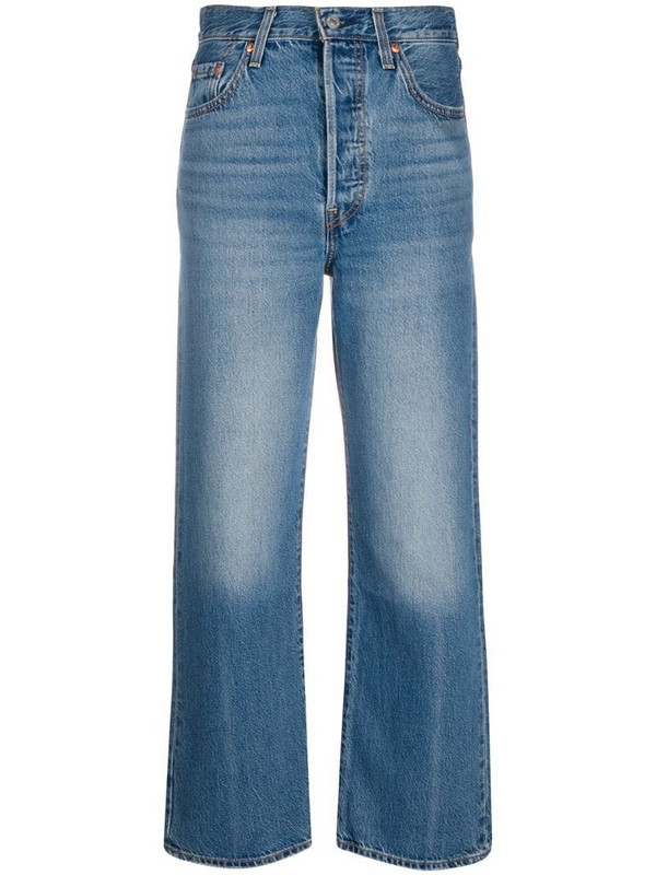 Levi's straight-fit jeans in blue