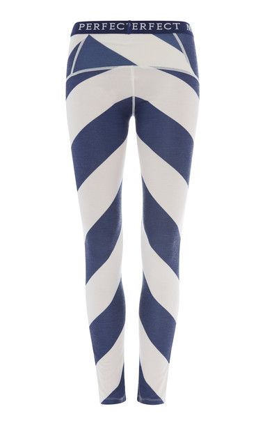 Perfect Moment Chevron-Striped Stretch-Knit Thermal Leggings Size: XS