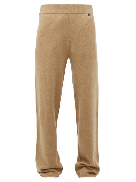 Extreme Cashmere - No. 104 Cashmere Blend Wide Leg Trousers - Womens - Camel
