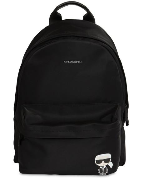 KARL LAGERFELD K/ikonik Nylon Backpack in black