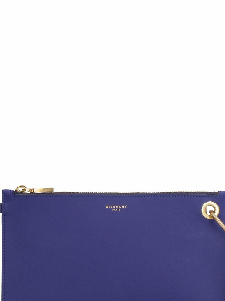 Givenchy Gv Leather Pouch in blue