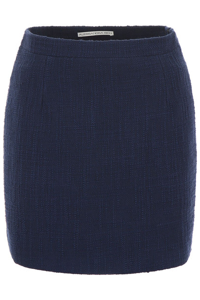 Alessandra Rich Tweed Skirt in blue