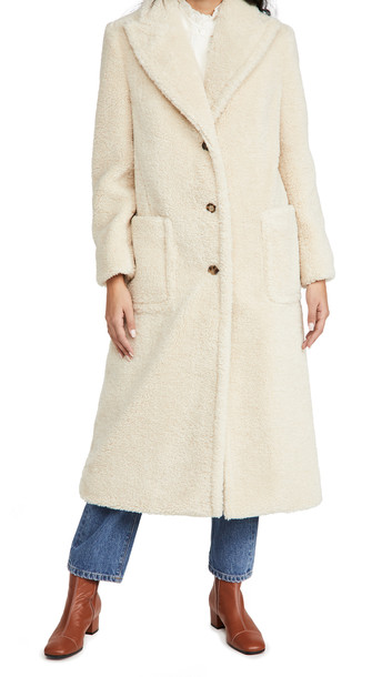 Tory Burch Sherpa Overcoat in natural