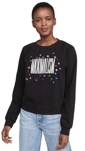 Monogram Maximalism Sweatshirt with Rhinestones in black