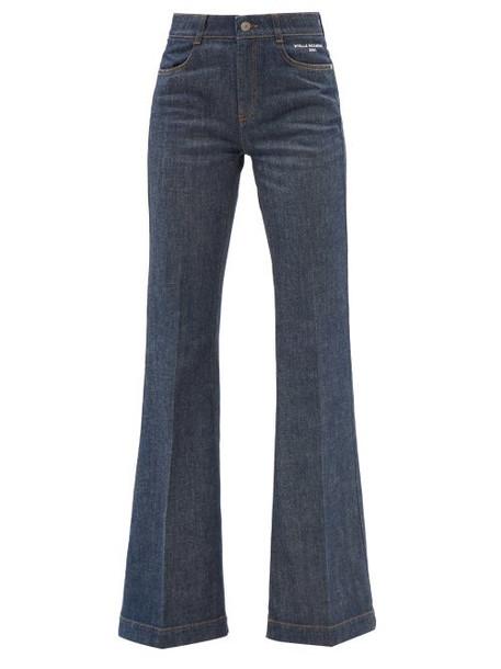 Stella Mccartney - High-rise Flared-leg Jeans - Womens - Denim