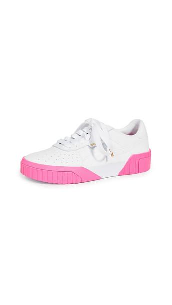 PUMA Cali Sneakers in pink / white