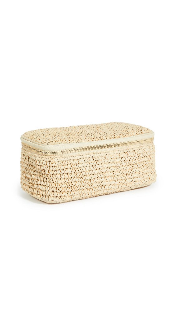 Stoney Clover Lane Woven Open Top Mirror Pouch in natural