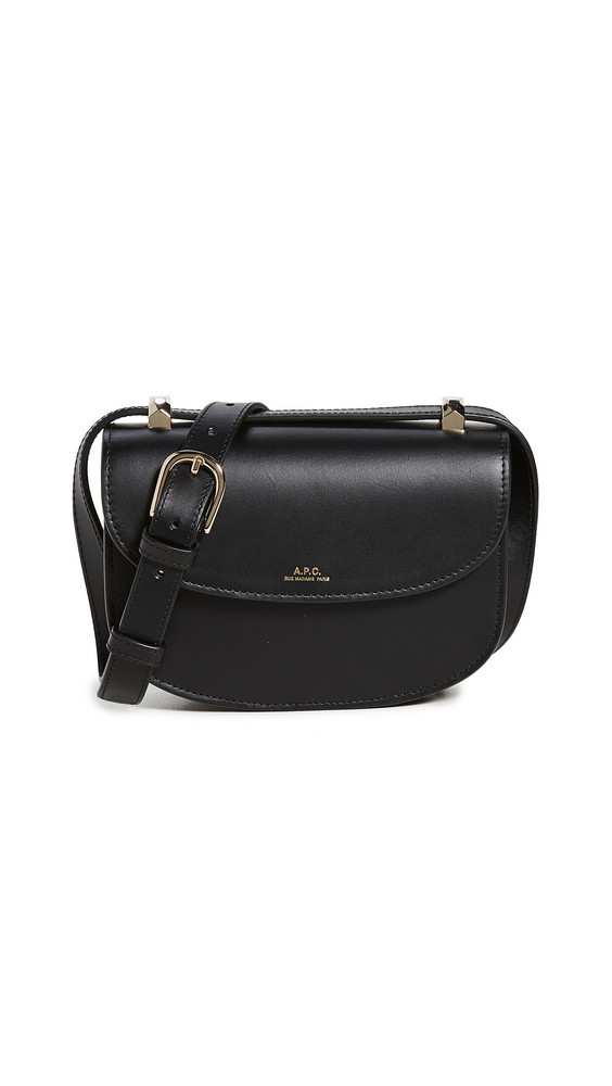 A.P.C. A.P.C. Mini Geneve On Strap Bag in noir