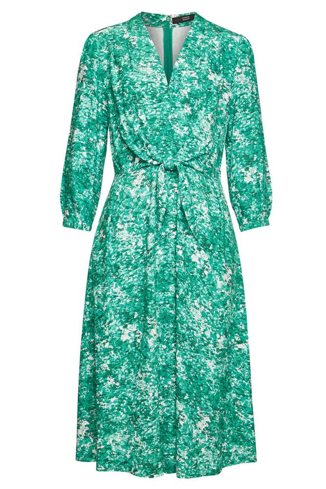 Steffen Schraut Hawaiian Summer Printed Midi Dress  in green