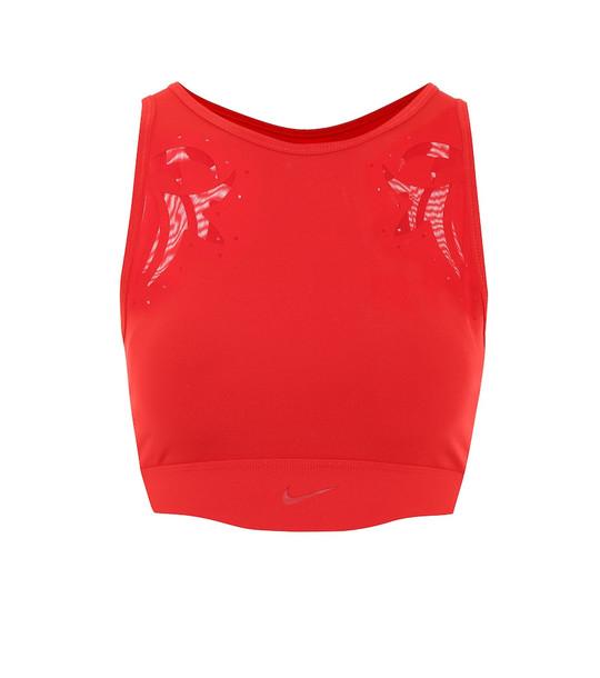Nike Mesh sports bra in red