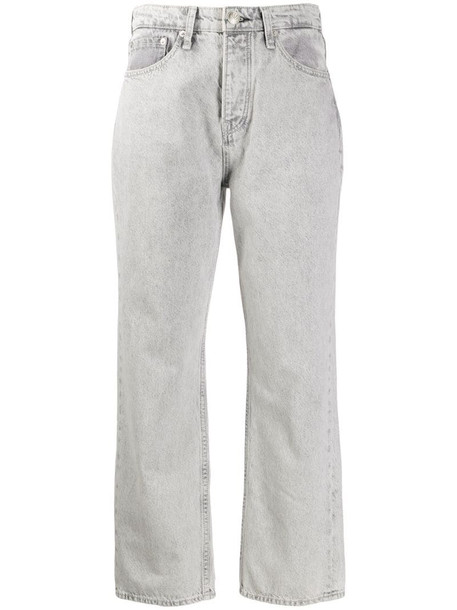 Rag & Bone Maya high-waisted straight-leg jeans in grey