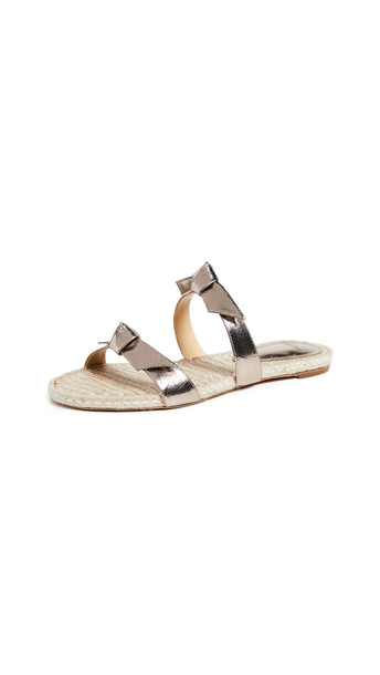 Alexandre Birman Clarita Braided Flat Sandals in natural