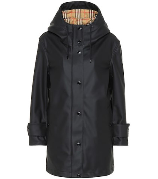 Burberry Technical hooded coat in black