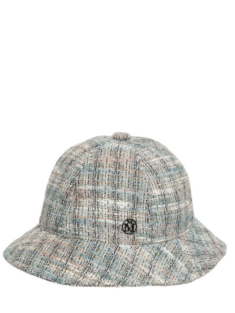 MAISON MICHEL Mara Tweed Bucket Hat