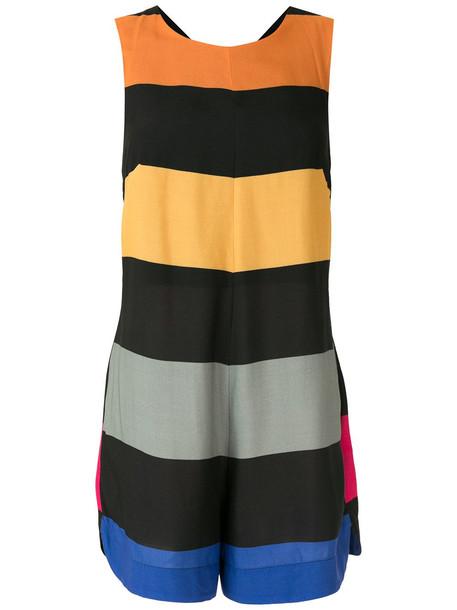 Osklen Big stripes playsuit - Multicolour