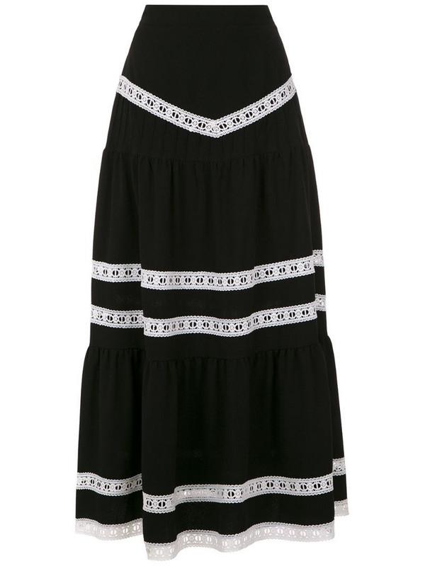 Martha Medeiros Nervuras midi skirt in black