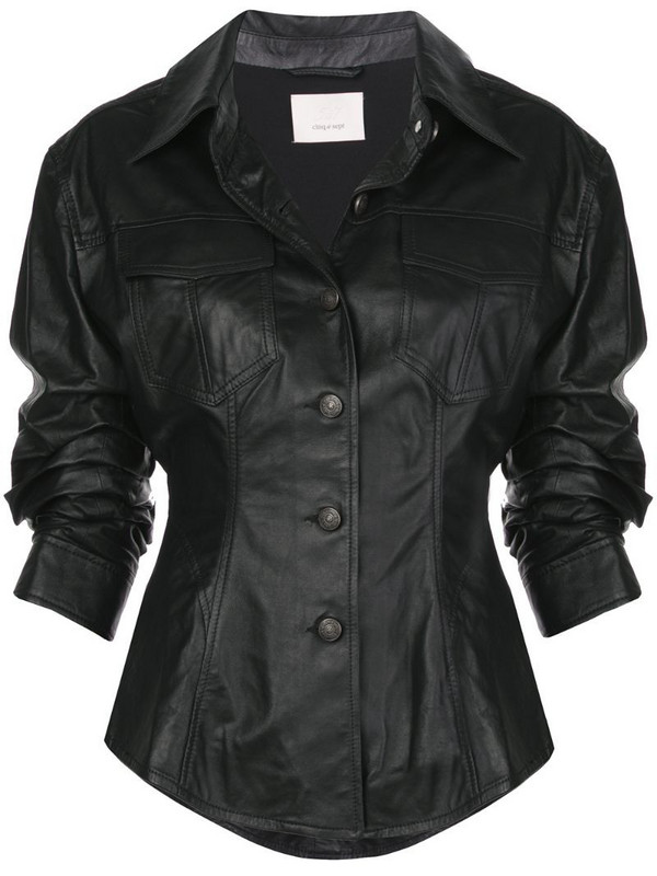Cinq A Sept Canyon scrunched jacket in black