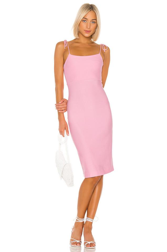 LPA Tank Midi Dress in pink