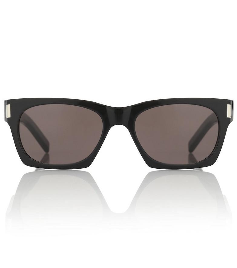 Saint Laurent SL 402 rectangular acetate sunglasses in black