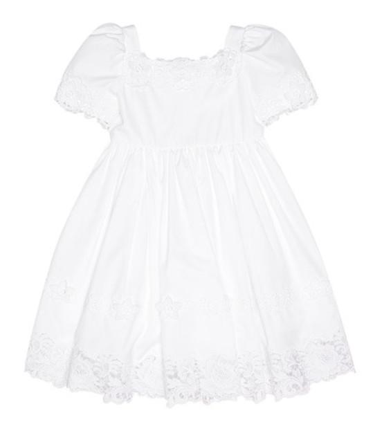 Dolce & Gabbana Kids Cotton dress in white