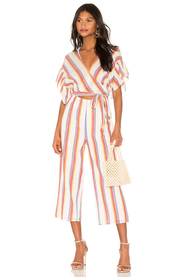 SAYLOR Nneka Jumpsuit in white
